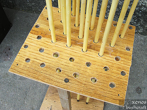 Кутия за стрели - Дупките по горната част на стойката