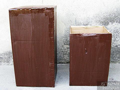 Кутия за стрели - Кутията от картон