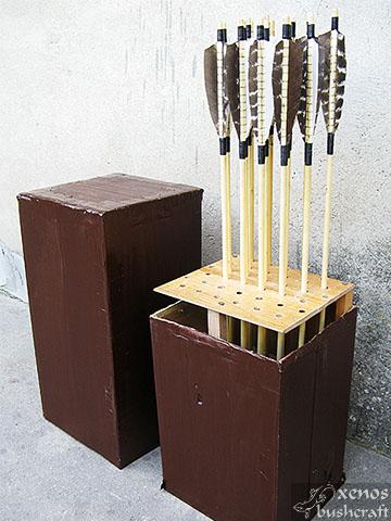 Кутия за стрели - Стойката в кутията