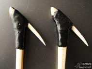 Първи лайстър - Облепяне със лепило от смола