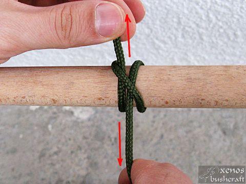 Кръстовиден възел - Затягане