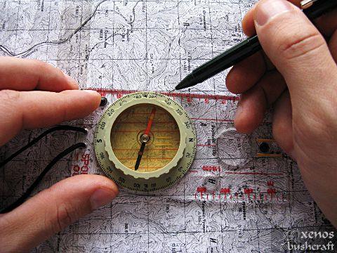 Магнитни меридиани - Изчертаване с компас