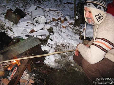 Среща на Кръстец - 22-23.01.2011 - Изпичане на лъка