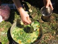 Среща на Мадарското плато - 16-17.04.2011 - Копривена крем-супа