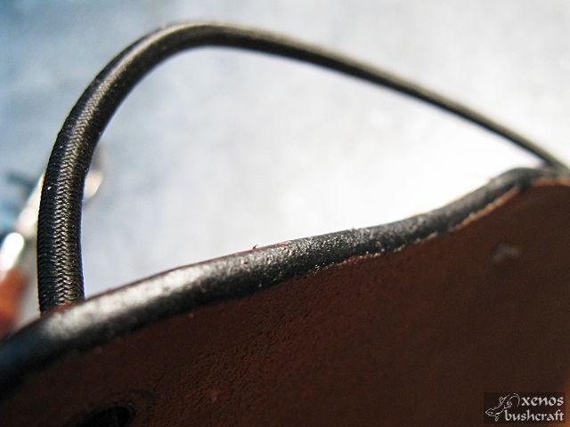 Кожен протектор (крага) за стрелба с лък - Ръб