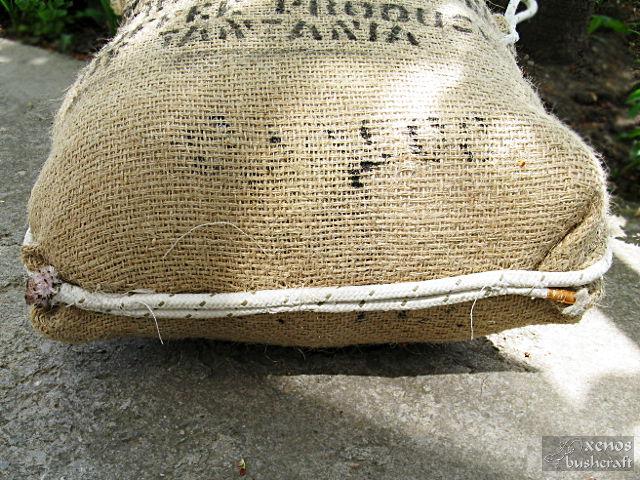 Мишена от найлонови отпадъци - Зашиване на въжето