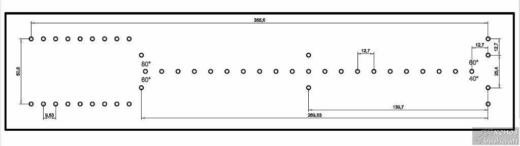 Компактен станок за плетене на тетива - Схема с размери