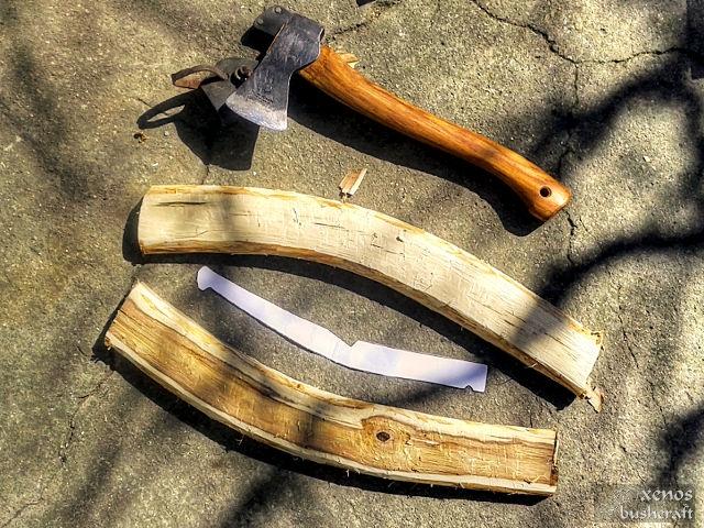 Дъговиден трион (джага, бичкия) - Заготовките