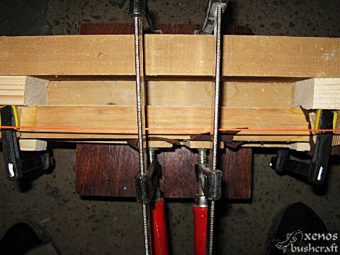 Корекции на лъка в дръжката - Натягане на стягите