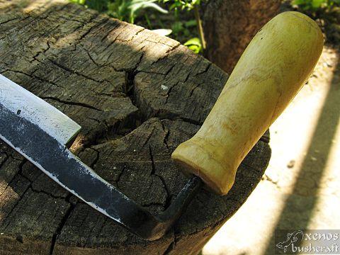 Новият ми рукан (draw knife) - Дръжки от бряст