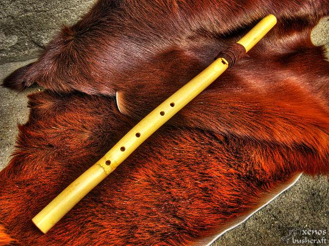 Традиционна индианска флейта - Завършен вид