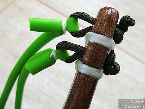 Тренажор за стрелба с лък - Окачване на ластиците
