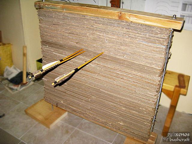 Мишена от пресован картон - Завършен вид