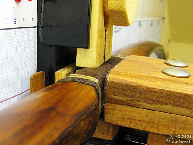 Дърво за тилеринг - Фиксиране на дръжката с хоризонталният ограничител