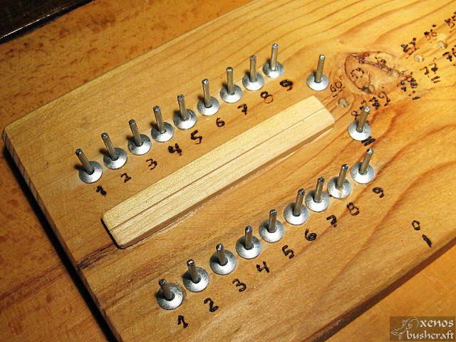 Компактен станок за плетене на тетива - Щифтове за броя влакна