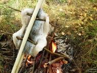 Риба по индиански - Над огъня