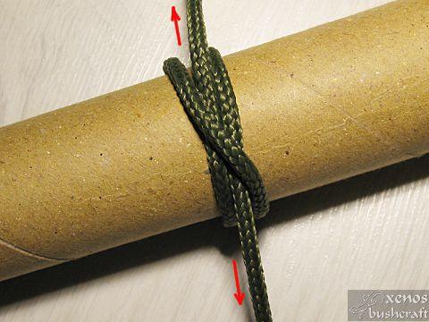 Кръстовиден възел - Алтернативно завръзване