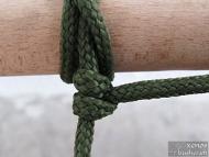Кръстовиден възел - Осигуряване с две полу-запънки