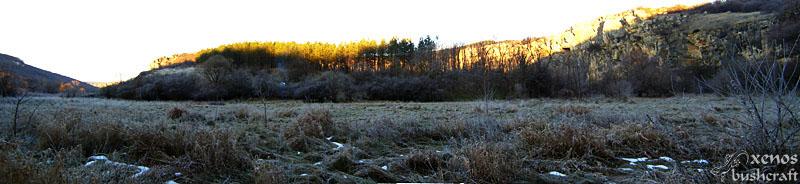 Панорама от замръзналата поляна - Орлова чука, 29-30.12.2009