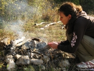Шуменско плато - 01.11.2011 - Домашни наденички на шиш