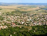 Вече сме на върха. Панорамна снимка на Дивдядово.