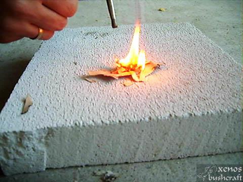 Брезова кора - Силен пламък