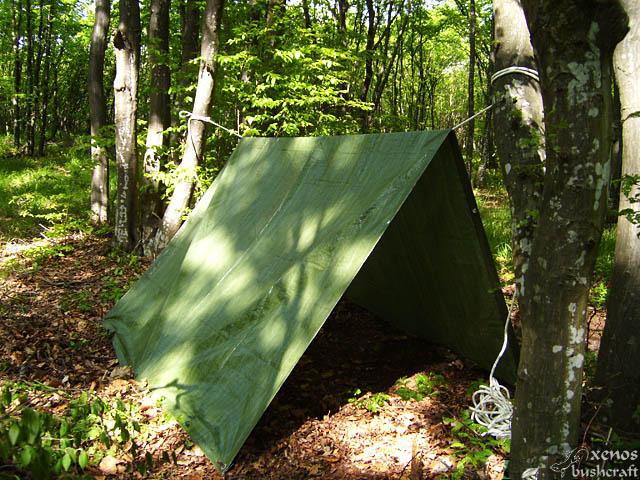 Четиръгълна палатка от платнище