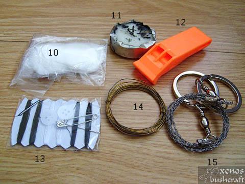 Combat Survival Kit - Съдържание