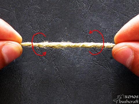 Направа на върви и въжета - Техника на усукване - Начало