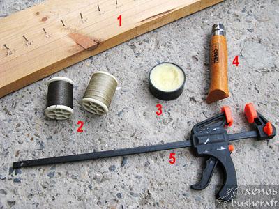 Тетива Фламандска плетка - Необходими материали