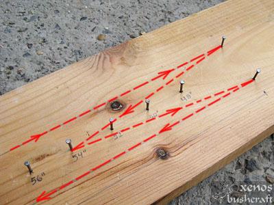 Тетива Фламандска плетка - Регулиране на дължината