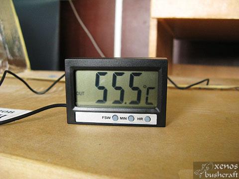 Дехидрататор от подръчни материали - Работна температура