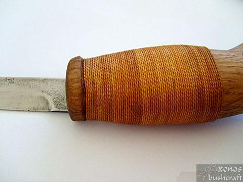 Моят първи Мокотауган - Стягане на дръжката с капронов конец