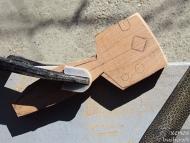 Направа на стрелоизправител - Изрязване на шаблона