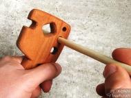 Стрелоизправител - Използване на отворите за оразмеряване