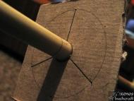 Стрели за Атлатъл -  Шаблон за поставянето на перата