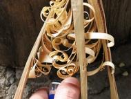 Пръчки-пера (Feather Sticks) - Запалване