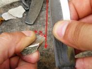 Северен стил с карбонов нож