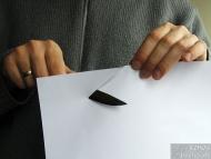Заточване на нож - Тест с хартия