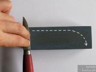 Заточване на нож - Движение при заточване