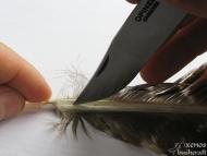 Примитивна индианска стрела - Подготовка на перата