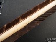 Примитивна индианска стрела - Спираловидно увиване на перата