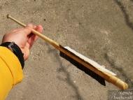 Примитивна индианска стрела - Готовата стрела