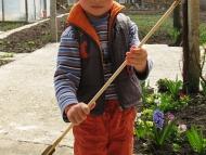 Примитивна индианска стрела - ... със сина ми