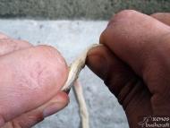 Сухожилие от крака на елен - Усукване и омачкване