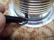 Wood Gas Stove - Очертаване на диаметъра на малката кутия