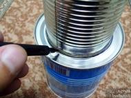 Wood Gas Stove - Очертаване на кръг в дъното на външната кутия