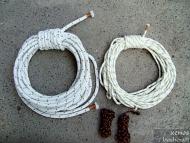 Въжета от ПАК. 14мм/15м, 9мм/20м и 3мм/2х5м.