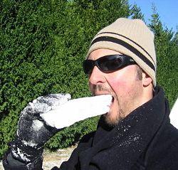 Ядене на сняг