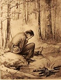 """Рисунка от книгата """"Ловци в Северните гори"""""""